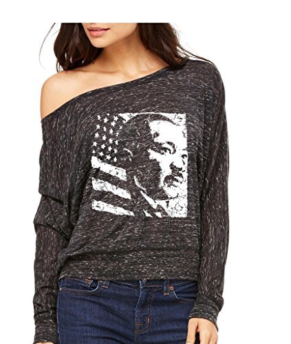 Martin Luther King Jr Long-Sleeve Black Live Matter Flowy Shirt Large Black Marble ss - Ss Shirts Black