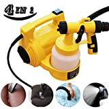 Boeray 4 in 1 800ml 650W 30000/min Electrical Paint Spray Gun,Paint Spray+Dust Collection+air Inflatable+Compressor Pump(Machine with Glove/Eye Glass/Protect Cloth)