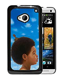 Fashionable Custom Designed Hard Shell Case For HTC ONE M7 With Baby Drake Black Phone Case