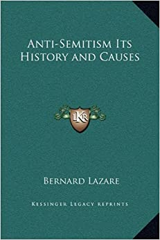 Book Anti-Semitism Its History and Causes