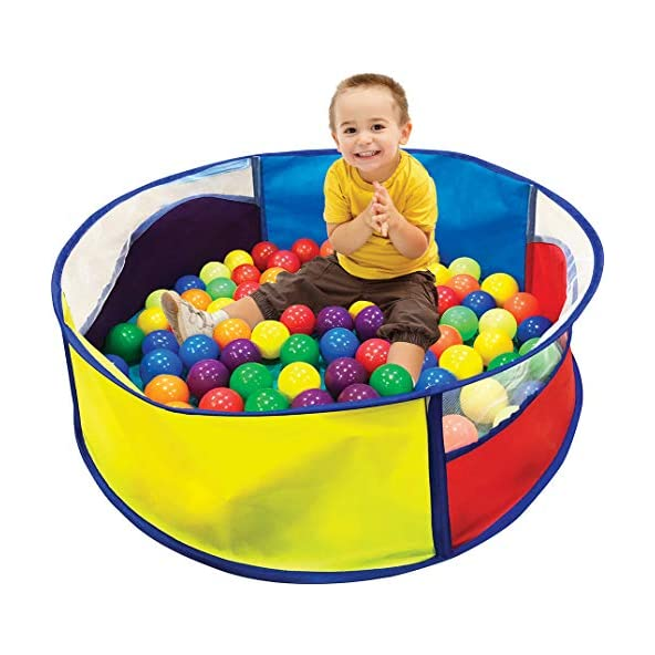 Ball Pool with 64 Balls for Kids/ Ball Games for Toddlers/ Multicolor Balls in Ball Pool