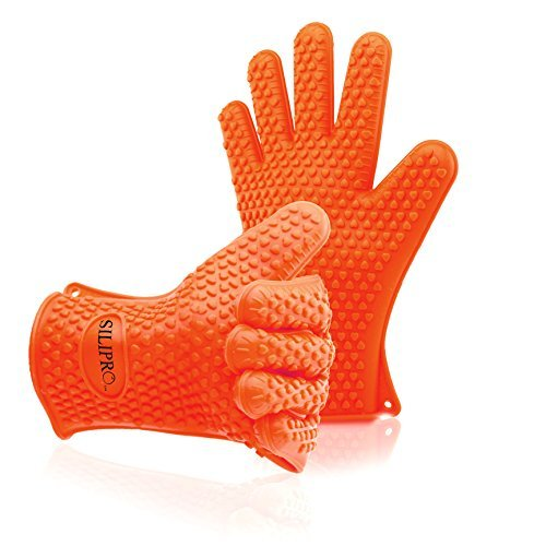 Silipro Heat Resistant Grilling Silicone Bbq Gloves For C...