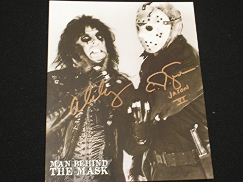 Cooper Signed Photo - ALICE COOPER & CJ GRAHAM Dual Signed Man Behind the Mask 8X10 Photo Friday The 13th C