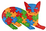 PIGLOO™ Wooden Cat Puzzle Toy with A-Z Alphabet and Numbers, 1 Piece