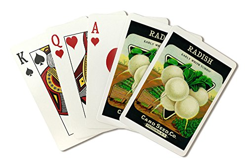 Radish (early white) Seed Packet (Playing Card Deck - 52 Card Poker Size with Jokers)