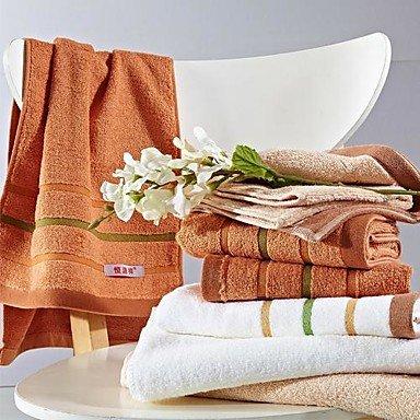 Mano de 3pcs Toallas de mano de guardar, muilt coloridos Diseño de Rayas de algodón 100% toalla de mano, White: Amazon.es: Hogar