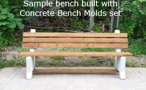 Enjoyable Amazon Com Concretebenchmolds Set 3 Slat Back Normal Beatyapartments Chair Design Images Beatyapartmentscom
