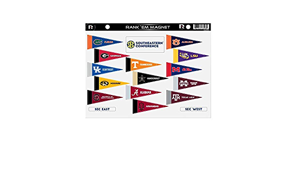 Rico NCAA Sec Rank Em Magnet Sheet