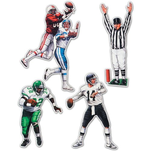 Beistle Football Figures Cutouts multi 20