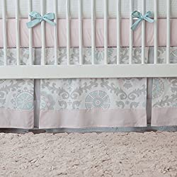 Carousel Designs Pink and Gray Rosa 2-Piece Crib Bedding Set