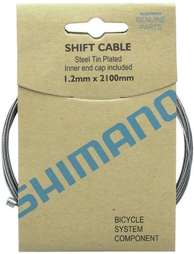 SHIMANO Zinc Shift Cable Box of 10 (1.2x2100mm) (Road Derailleur Cable)