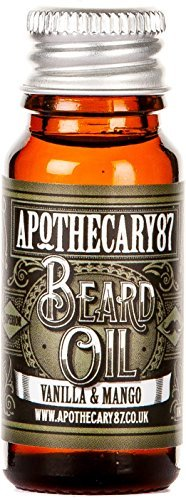Apothecary 87, Conditioning Beard Oil for the Manliest of Man Beards, Made in England - Vanilla and Mango, 10 Ml (0.34 Fl Oz) by Apothecary - Manliest Men
