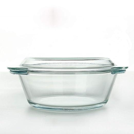 Cuenco de cristal transparente resistente al calor con tapa ...