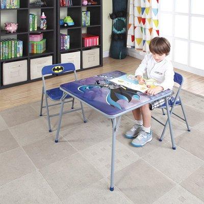 O'Kids Batman Metal Activity Table and Chair Set ()