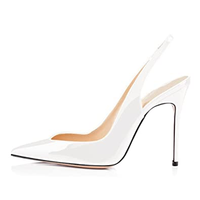 87cf5840075 UMEXI Women V-Cut Slingback Sandals Stiletto High Heels Evening Pumps for  Wedding Party Dress