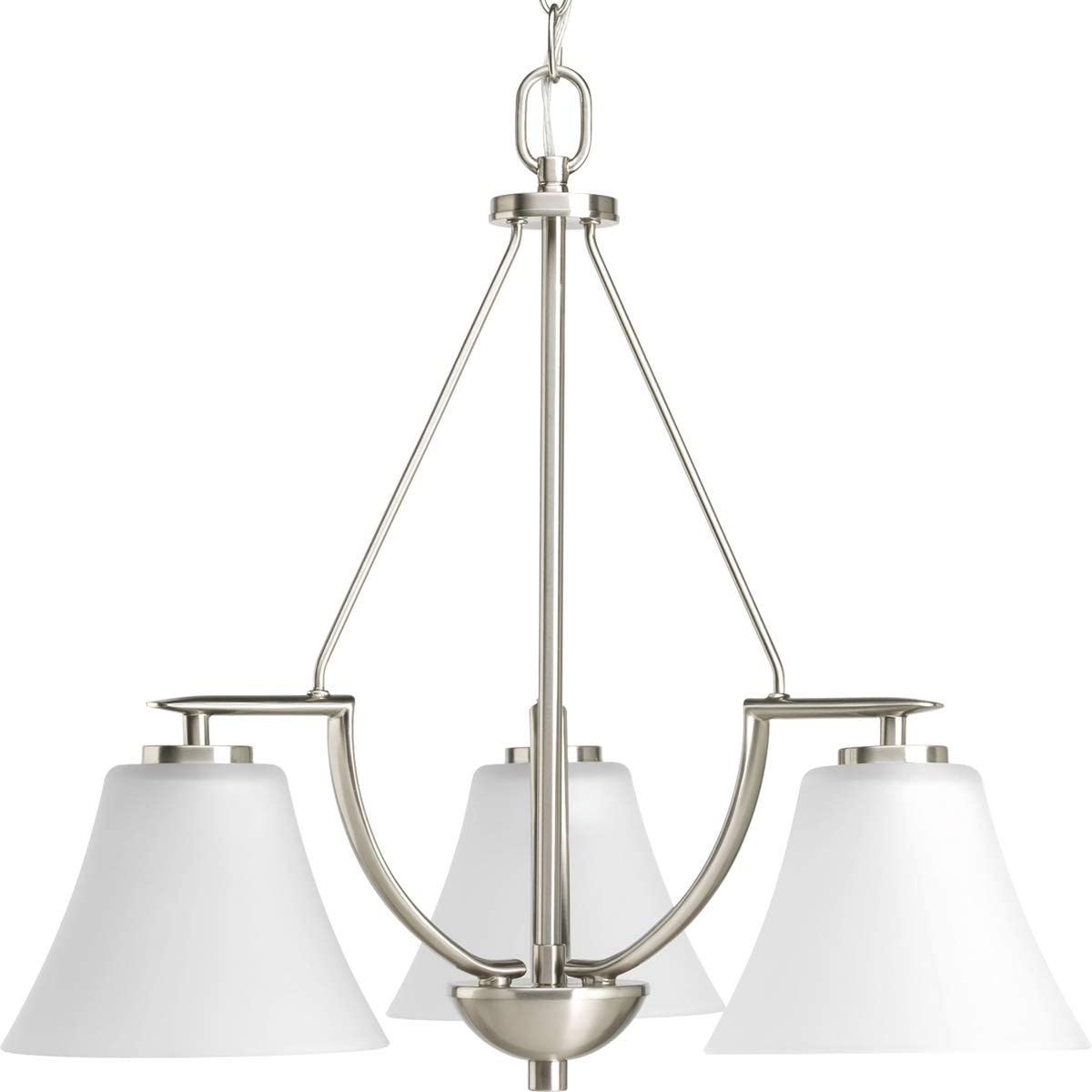 Progress Lighting P4621-09 Bravo Collection 3-Light Chandelier, Brushed Nickel