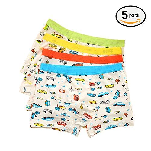 5pcs Toddler Underwear Boys Underpants Boxer Briefs Cute Car Print Briefs US