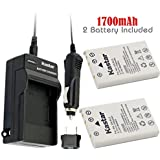 Kastar Battery (2-Pack) and Charger Kit for Nikon EN-EL5, Nikon MH-61 work with Nikon Coolpix 3700, 4200, 5200, 5900, 7900, P3, P4, P80, P90, P100, P500, P510, P520, P530, P5000, P5100, P6000, S10 Cameras