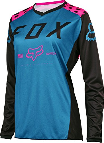 Fox Switch - Fox Racing 2017 Womens Switch Jersey-Black/Pink-XS