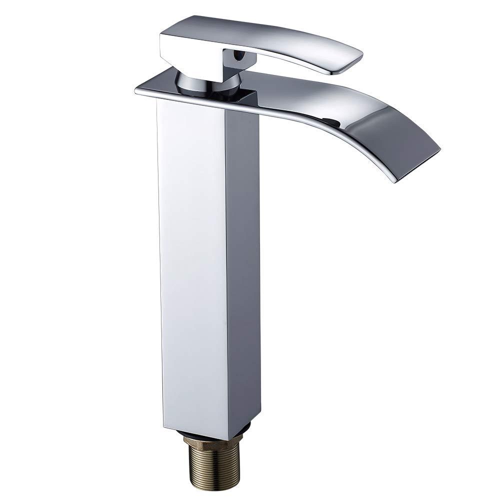 Grifo mezclador monomando de ní quel, para el lavabo del cuarto de bañ o para el lavabo del cuarto de baño seebesteu