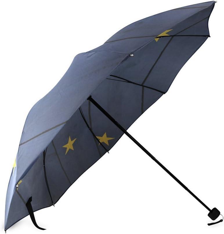 Friends Novelty Birthday Gifts Presents Alaska State Flag Compact Foldable Rainproof Windproof Travel Umbrella