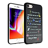 Disney Quotes iPhone 8 Case, iPhone 7 Case, IMAGITOUCH Anti-Scratch Shock Proof Slim Fit Flexible TPU Case Bumper Cover for iPhone 8/7 Disney Movies Quotes Bumper