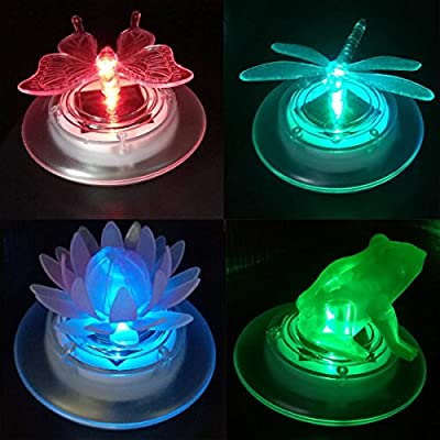 pearlstar Solar Pond Lights Waterproof LED RGB Solar Floating Lights for Swimming Pool or Pond Floating Night Lights Decorations