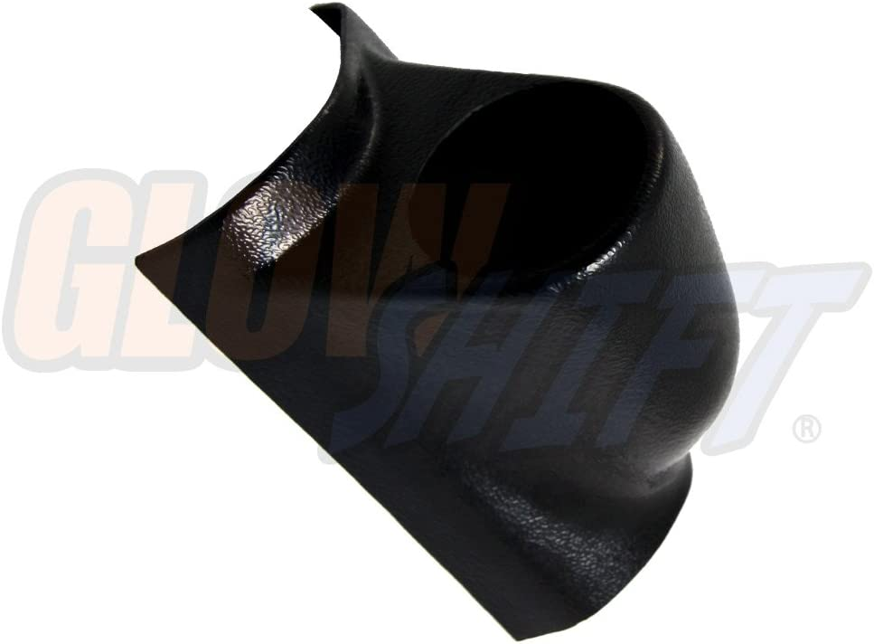 "GlowShift Universal Black Single Pillar Gauge Pod - Fits Any Make/Model - ABS Plastic - Mounts (1) 2-1/16"" (52mm) Gauge to Vehicle's A-Pillar"