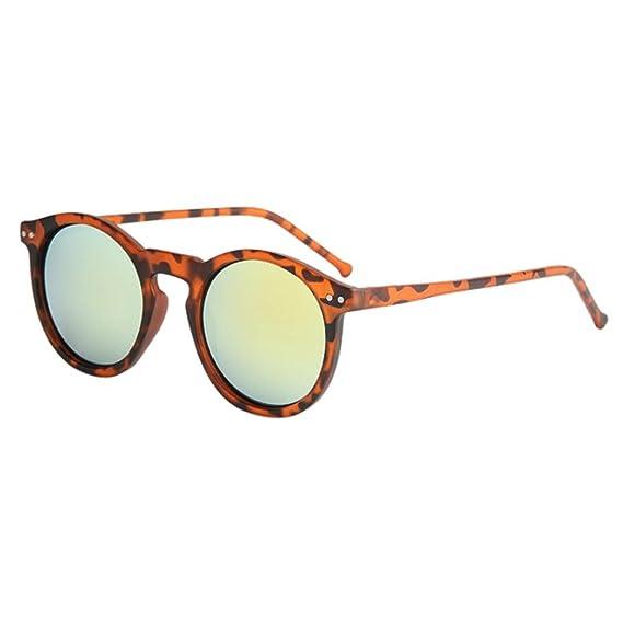 Logobeing Gafas de Sol Circulares Para Mujer Gafas de Sol Con Montura Metálica Marca Classic Tone