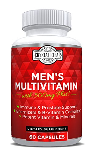 Ultra Multivitamin for Men, Best for Vitamins in Supplements for Men Over 50 Plus, 60 Capsules, 1 Month Supply