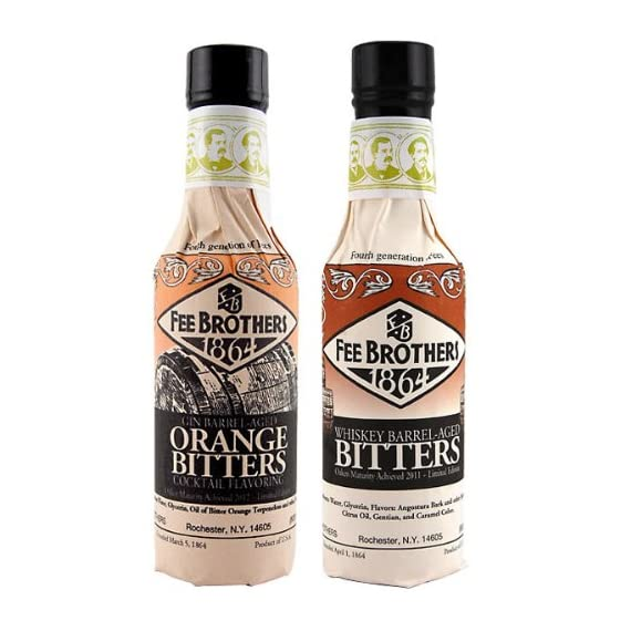 Fee Brothers Limited Run Bitters 2 Pack - Gin Barrel-Aged Orange & Whiskey Barrel-Aged Aromatic Bitters - 5 oz 1 Fee Brothers Gin Barrel-Aged Orange & Whiskey Barrel-Aged Aromatic Bitters 2 pack 1 - 5 oz Gin Barrel-Aged Orange Bitters 1 - 5 oz Whiskey Barrel Aged Bitters
