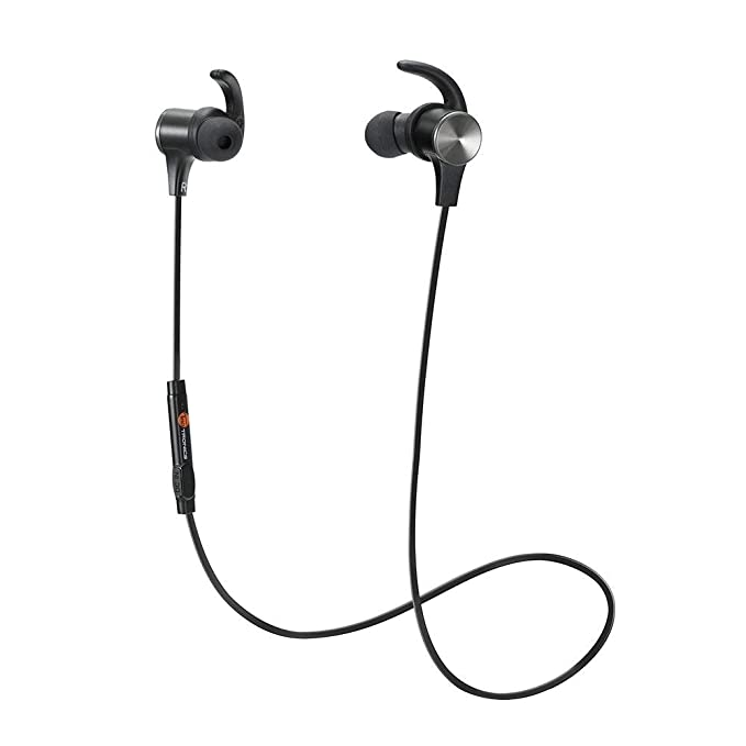 f23014501cf Bluetooth Headphones TaoTronics Wireless 4.2 Magnetic Earbuds Snug Fit for  Sports with Built in Mic TT