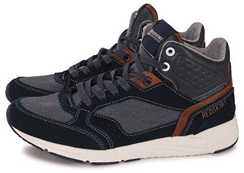 Redskins zapatillas de cuero calzado Hess, color azul marino