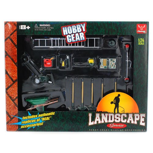 1/24th Landscaping Service 14pc Set by Hobby Gear by Phoenix Toys