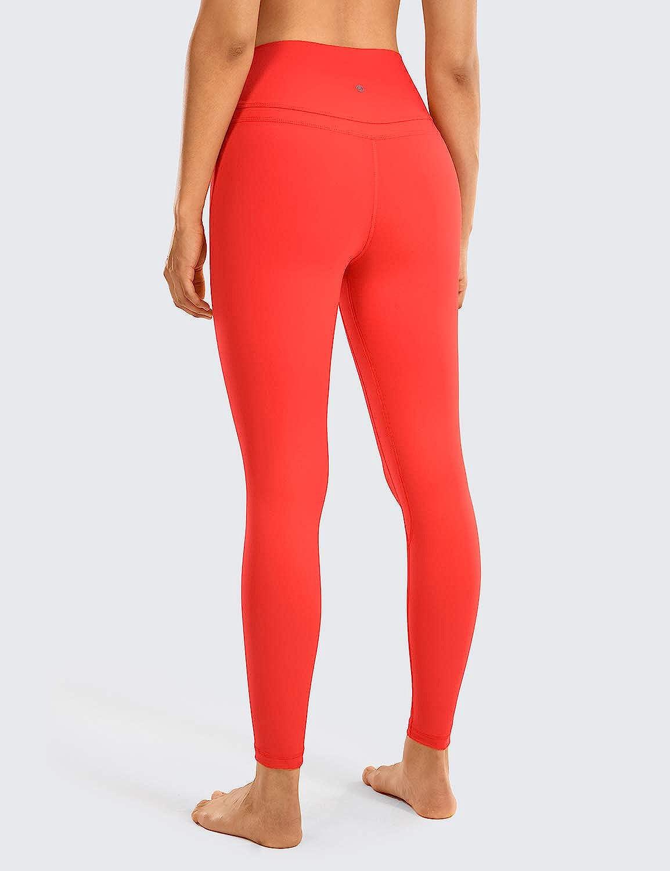 CRZ YOGA Damen Sports Yoga Leggings Sporthose mit Hoher Taille-Nackte Empfindung 63cm