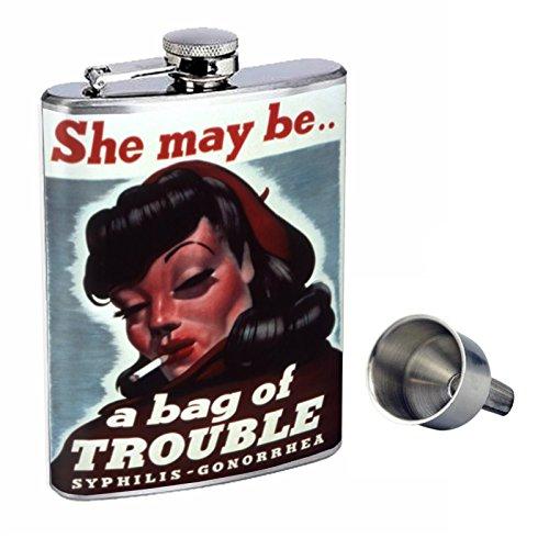 最高の Perfection Inスタイル8オンスステンレススチールWhiskey Free Flask with Free Funnel Funnel d-191彼女はMay Be d-191彼女はMay Aバッグのトラブル B017GKXKM6, 寒川町:0e5b5c40 --- profrcsharma.woxpedia.com