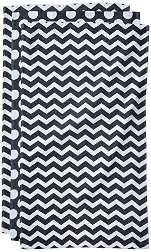(Happy Home 100% Cotton Kitchen Towels, Pack of 3 (Grey/White))