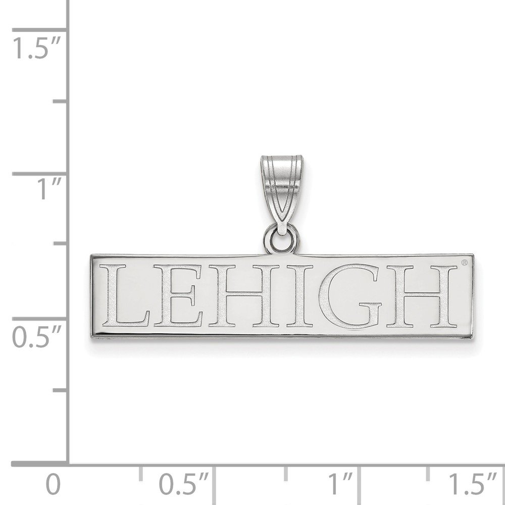 Collegiate Lehigh University Sterling Silver LogoArt Lehigh University Large Pendant