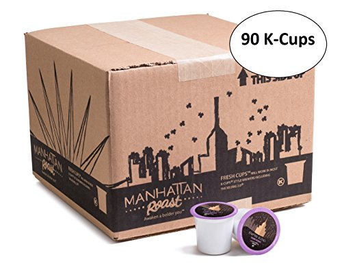 Coffee In French (Manhattan Roast 'Empire Blend' (French / Dark Roast) Single-Serve Coffee Freshcup works in most Keurig K-Cup Brewers 90 Count Box)