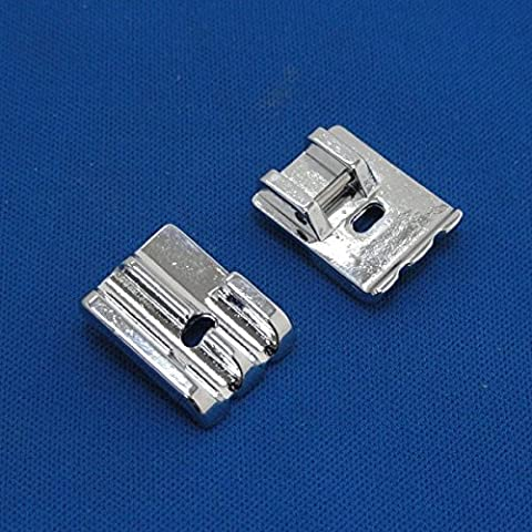 Kalevel 2pcs Universal Piping Presser Foot Sewing Machine Presser Feet Sewing Machine Sewing Kit for All Low Shank Snap-on Singer Brother Babylock Euro-pro Janome Kenmore Janome - Euro Pro Sewing