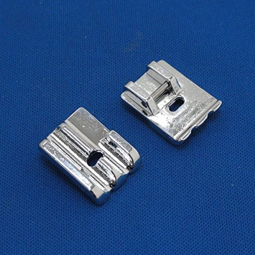 Kalevel 2pcs Universal Piping Presser Foot Sewing Machine Presser Feet Sewing Machine Sewing Kit for All Low Shank Snap-on Singer Brother Babylock Euro-pro Janome Kenmore Janome Bernina