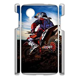 Google Nexus 5 Phone Case White Motocross HJF691941