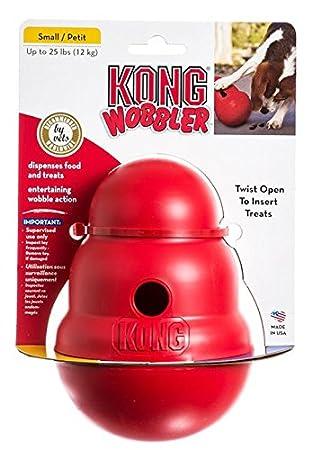 KONG WOBBLER Food Treat Dispenser Small feeding toy fun dog
