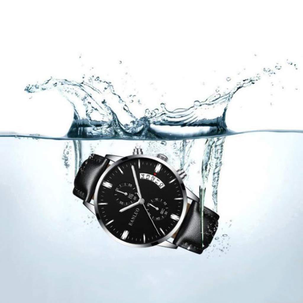 ... Relojes De Negocios Relojes De Cuarzo De Lujo Relojes De Cuero De Acero Inoxidable A Prueba De Agua Relojes Inteligentes Y Luminosos Regalos para ...