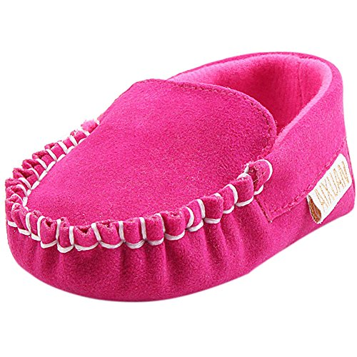 Fire Frog Baby Boat Loafer Shoes - Zapatos primeros pasos para niño rosa (b)