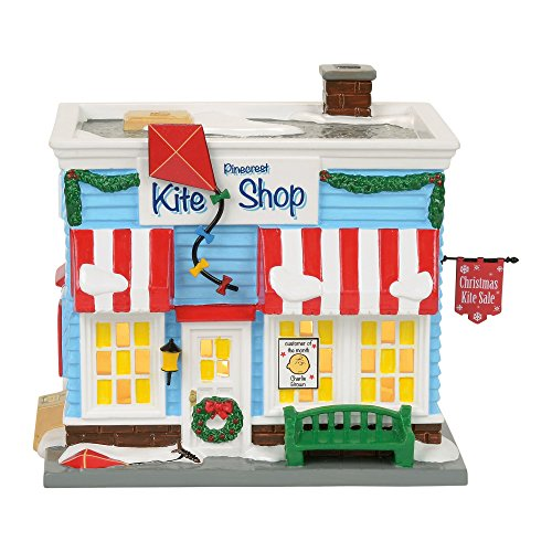 Department 56 Peanuts Pinecrest Kite Shop Village Lit Building, Multicolor -