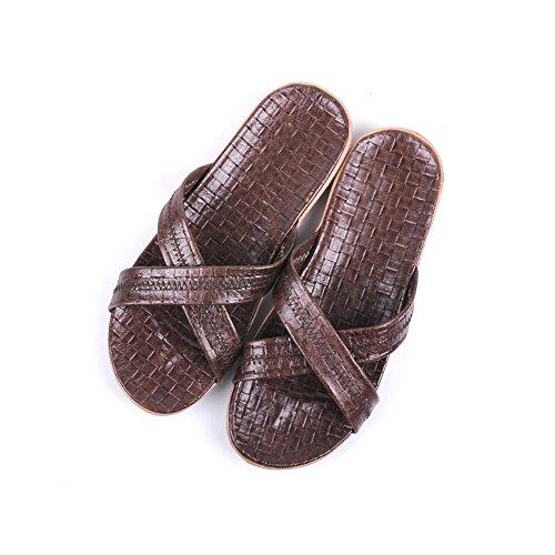 olores Mujer casa o Zapatillas de Cool Verano Cuero Prueba Primavera de Dormitorio de Verano Hombres a Oto Interior Transpirable Antideslizante Marr Vaca TELLW Zapatillas Masculina qFRnPx