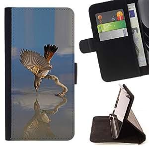 Momo Phone Case / Flip Funda de Cuero Case Cover - Lago de Aves;;;;;;;; - Samsung Galaxy Note 4 IV