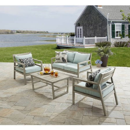 Amazon.com: Better Homes and Gardens Cane Bay 4-Piece Conversation ...