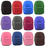Wholesale 17'' Backpacks In 12 Solid Colors - Case of 24